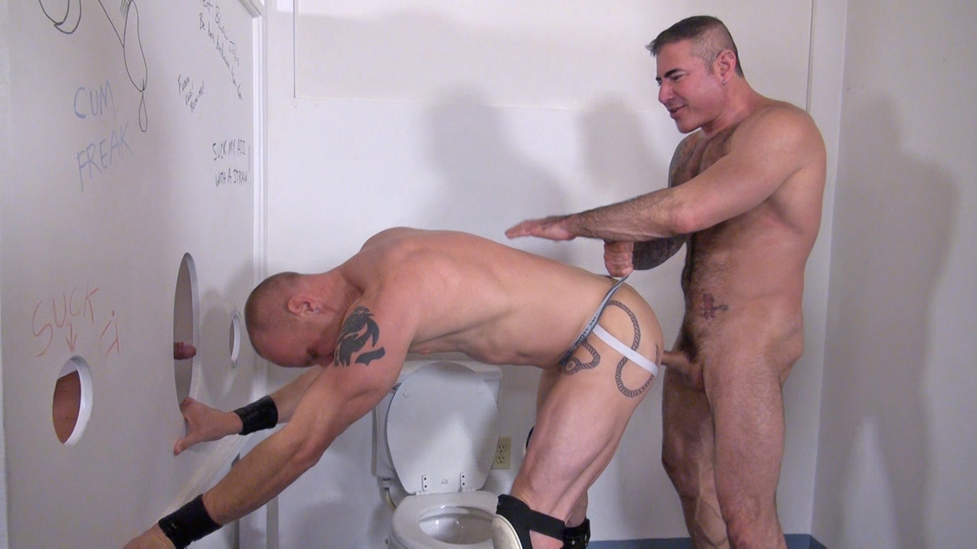 Raw and Rough Jason Mitchell Mason Garet Todd Maxwell Nick Moretti Cope and Derek Anthony Bareback Truck stop gloryhole sex Amateur Gay Porn 04 Amateur Trucker Sex At A Gloryhole With Piss, Cum and Bareback Action