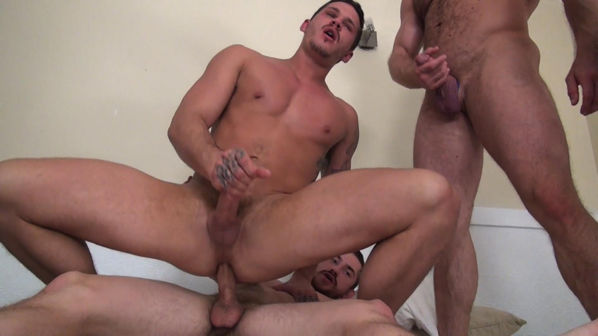 Raw-Fuck-Club-Dayton-OConnor-Tate-Ryder-Shay-Michaels-Adam-Russo-Bareback-Breeding-Amateur-Gay-Porn-3 Tate Ryder Gets Three Hairy Muscle Daddy Bareback Cocks