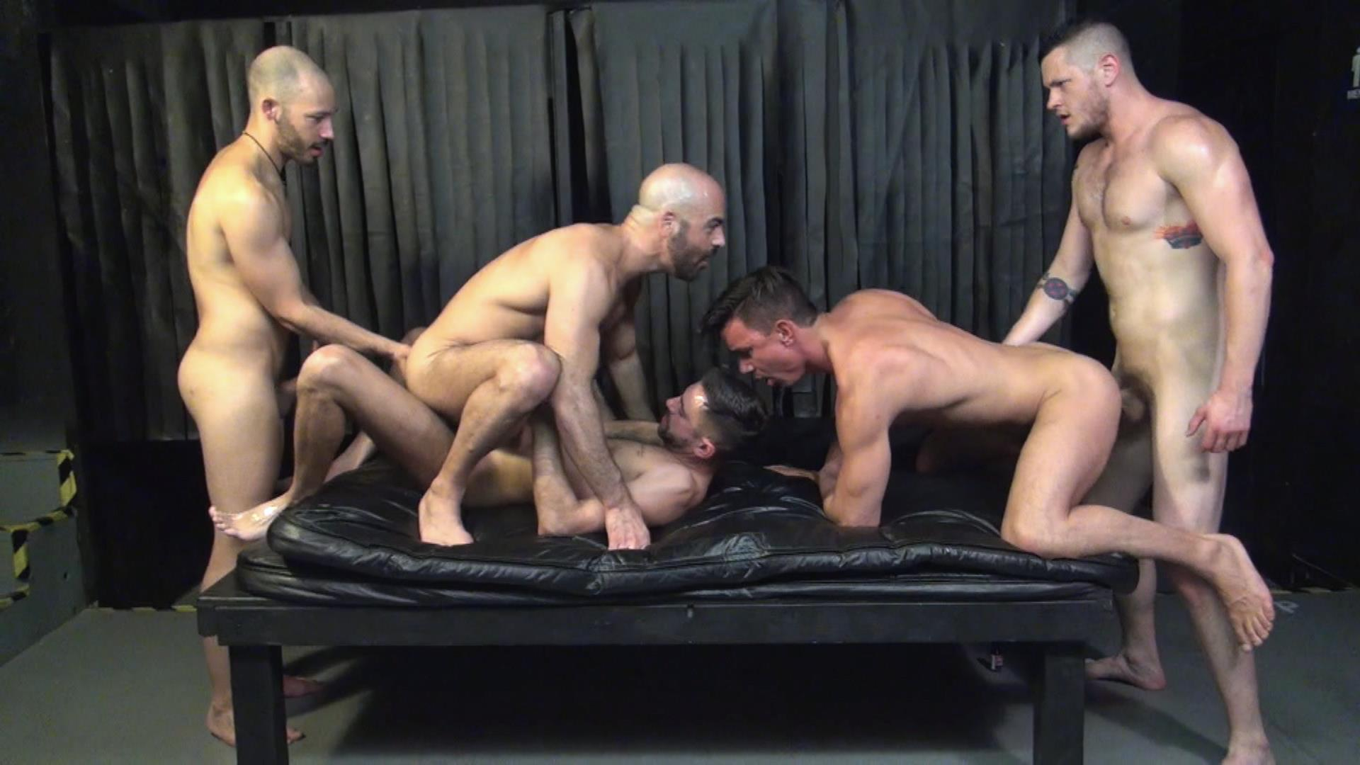 Raw Fuck Club Blue Bailey and Dylan Strokes and Adam Russo and Dean Brody and Jay Brix Bareback Orgy Amateur Gay Porn 2 Adam Russo Getting Double Penetrated At A Bareback Sex Party