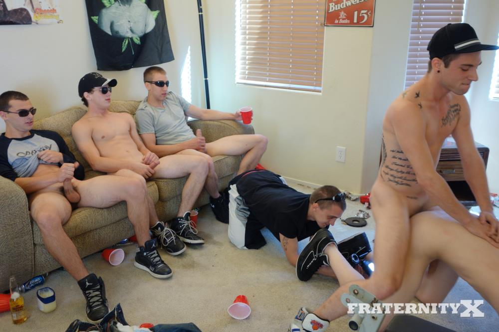 Fraternity X Naked Frat Guys Bareback Sex Party Big College Cock Amateur Gay Porn 10 Drunk Straight Frat Boys Bareback Fucking After The Superbowl