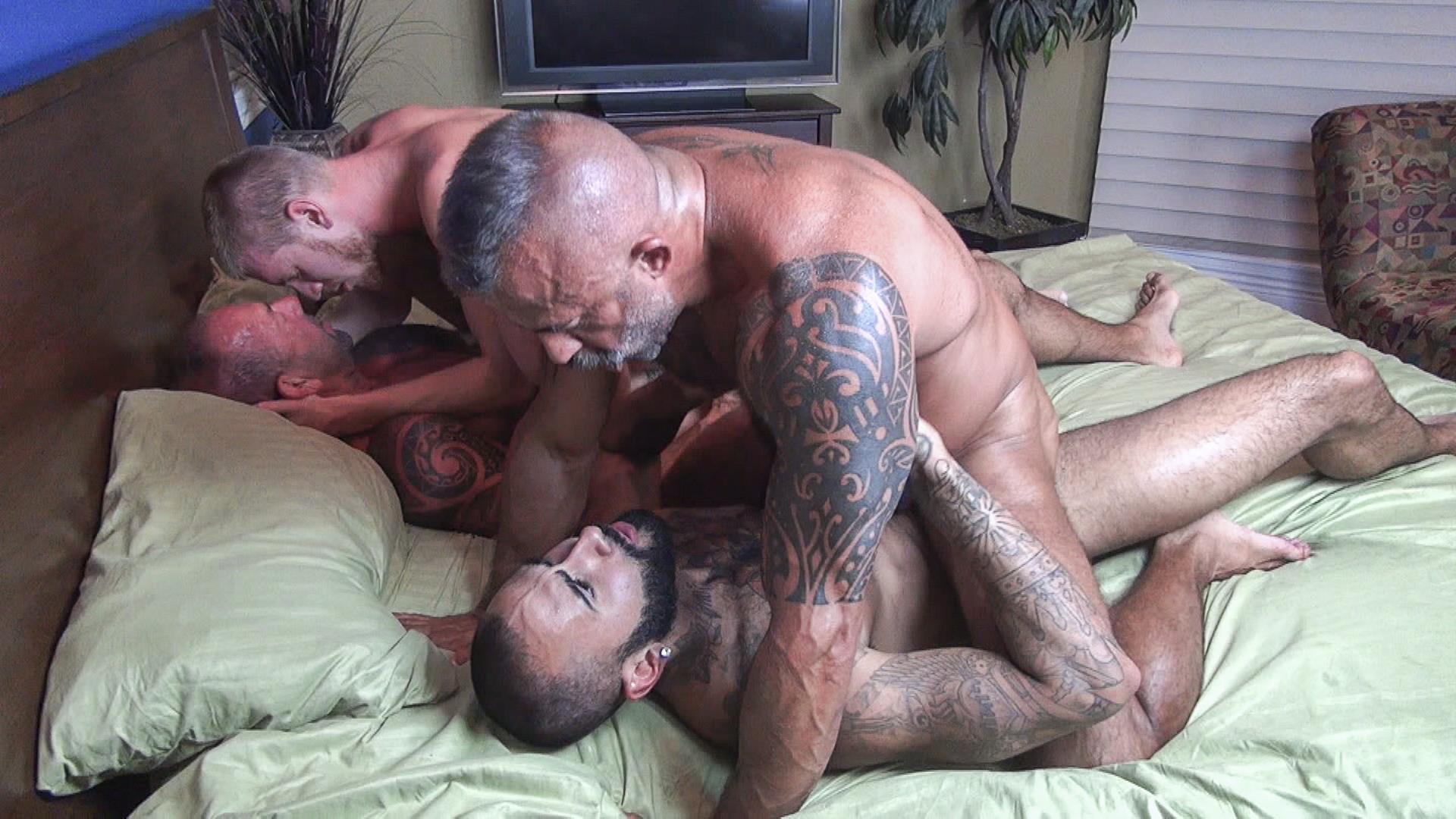 Raw Fuck Club Vic Rocco and Rikk York and Billy Warren and Job Galt Bareback Daddy Amateur Gay Porn 12 Four Hairy Muscle Daddies In A Bareback Fuck Fest Orgy