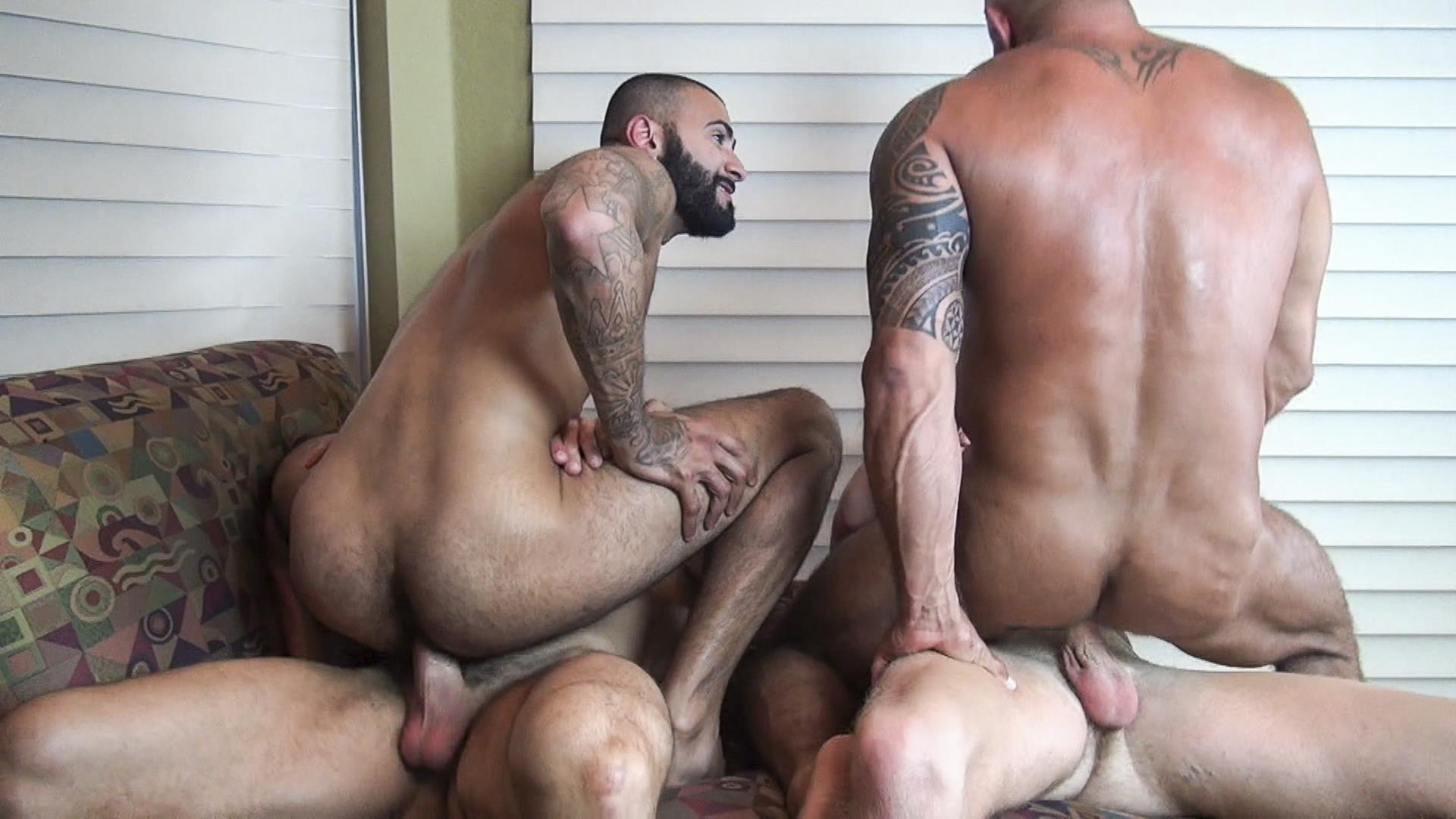 Raw Fuck Club Vic Rocco and Rikk York and Billy Warren and Job Galt Bareback Daddy Amateur Gay Porn 13 Four Hairy Muscle Daddies In A Bareback Fuck Fest Orgy